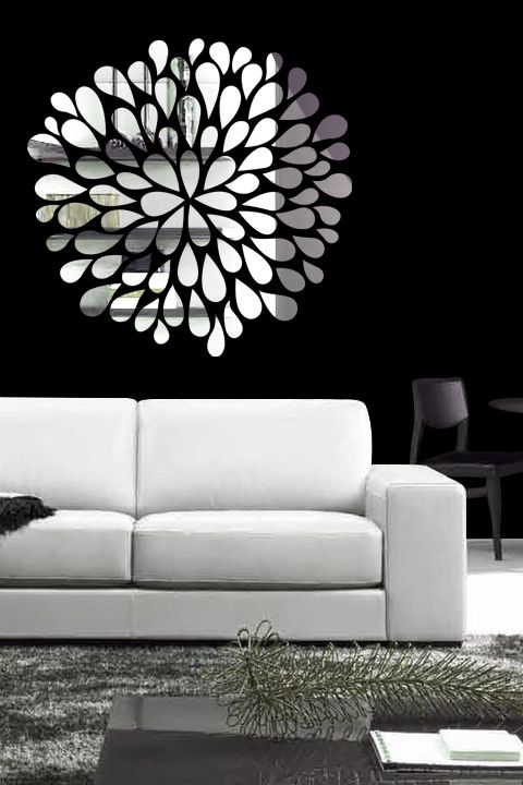 Reflective Wall Decals With Mirrorlike Finish - Wall decals mirror