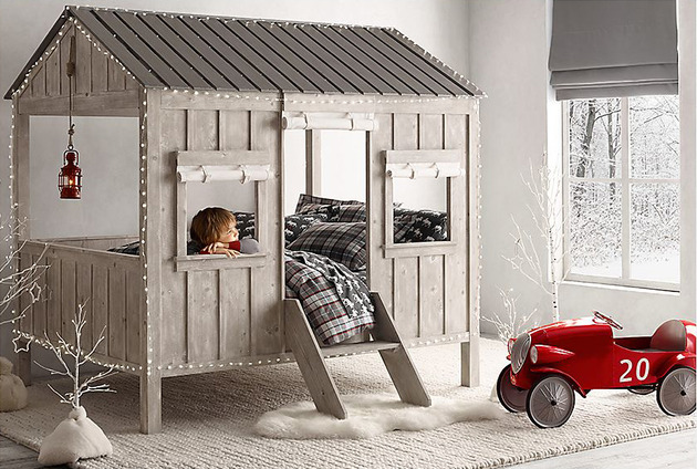 cabin bed is kid size indoor dwelling by restoration hardware 1 thumb 630xauto 51022 Kids Cabin Bed by Restoration Hardware