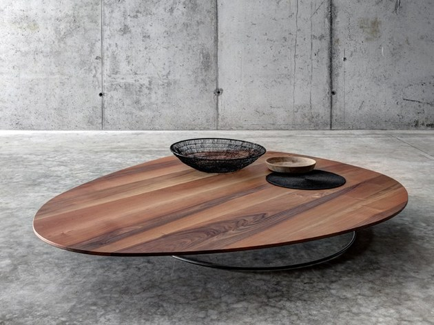 Large Low Coffee Table In Solid Wood By Fioroni