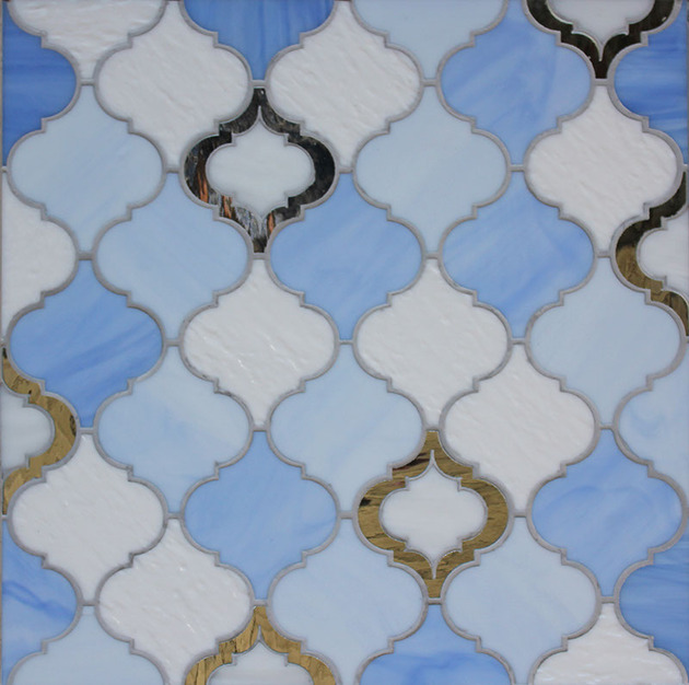 random moroccan white raindrop peri mirror 3 thumb 630xauto 50228 Moroccan Style Glass Tile from Edgewater