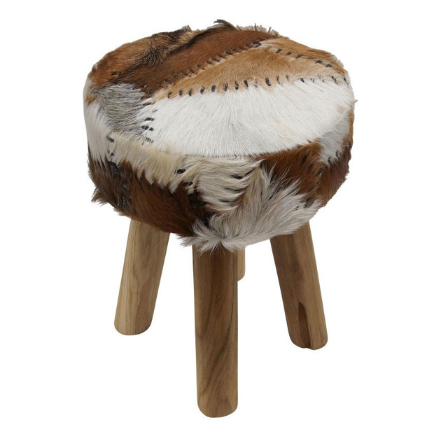 nuloom rona stool with goat leather seat 1 thumb 630xauto 51946 Goat Leather Stool Rona by Nuloom