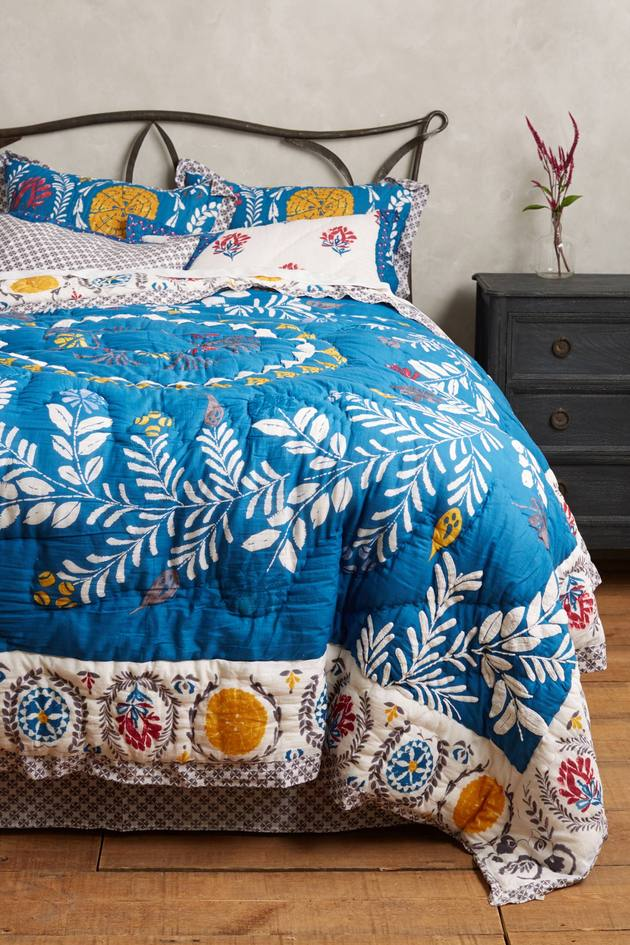 zocalo embroidered quilt anthropologie 1 thumb autox945 51294 Beautiful Embroidered Quilt Zocalo by Anthropologie