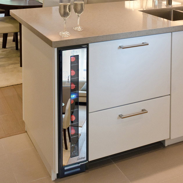narrow wine cooler%20by vinotemp saves space and looks cool 3 thumb 630xauto 52118 Narrow Wine Cooler by Vinotemp Saves Space and Looks Cool