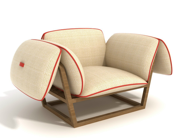 unusual garden armchair has futuristic design 1 thumb 630xauto 54054 Unusual Garden Armchair has Futuristic Design