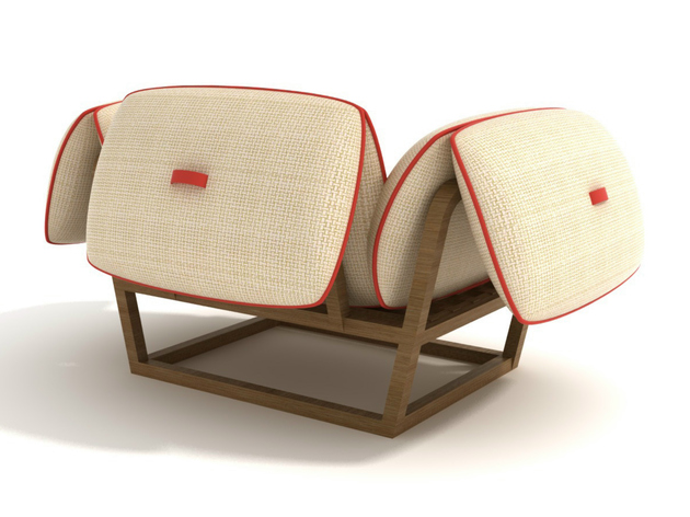 unusual garden armchair has futuristic design 2 thumb 630xauto 54056 Unusual Garden Armchair has Futuristic Design