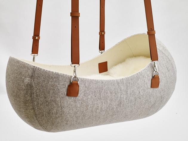 wool felt cradle makes little nest for baby 1 thumb 630xauto 53506 Wool Felt Cradle Makes Little Nest for Baby