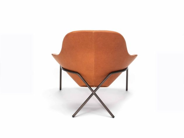 cross leg chair by magnus long 1 thumb 630xauto 54253 Comfortable Leather Lounge Chair   Cross Leg Chair by Magnus Long