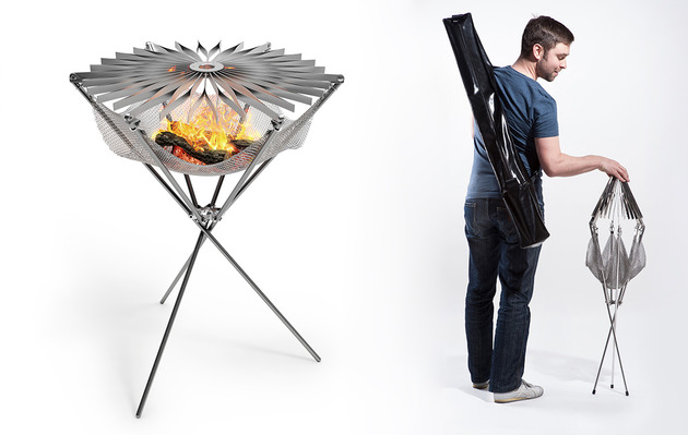 foldable portable barbecue grillo is a lightweight fire hammock 1 thumb 630xauto 55026 Foldable Portable Barbecue Grillo is a Lightweight Fire Hammock