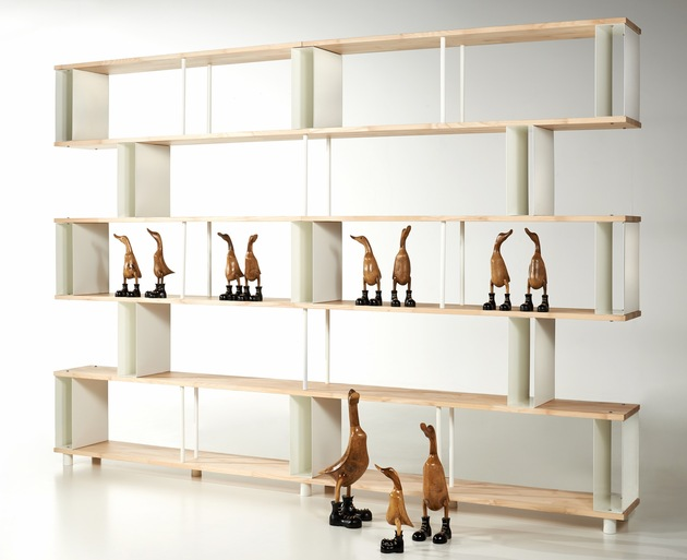 skaffa wood modular bookcase promotes open atmosphere 1 thumb 630xauto 54648 Skaffa Wood Random By Piarotto: New Modular Bookcase Promotes Open Atmosphere