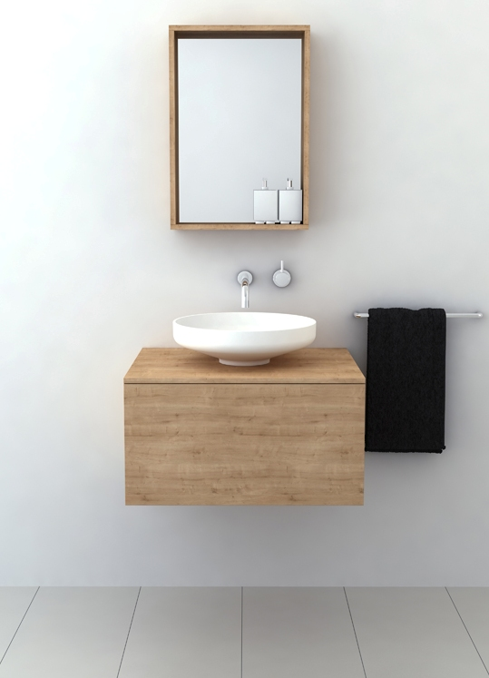 timber vanities with basins white 2 thumb 630x873 54434 Timber Vanities with Basins by Omvivo: a Perfect Fit for Minimalist Contemporary Bathrooms