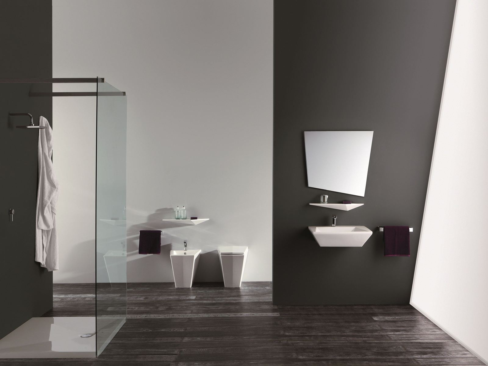 View In Gallery Ultra Modern Bathroom Suite Crystal Olympia 3