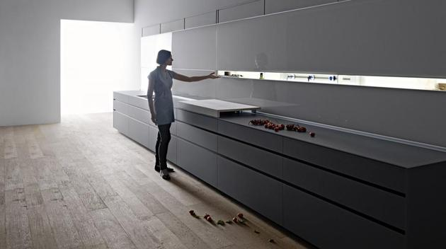 valcucine new logica system kitchen 1 thumb 630xauto 54225 Valcucine Kitchen New Logica System Can Be Used to Divide the Space