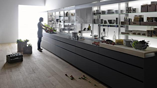 valcucine new logica system kitchen 2 thumb 630xauto 54227 Valcucine Kitchen New Logica System Can Be Used to Divide the Space