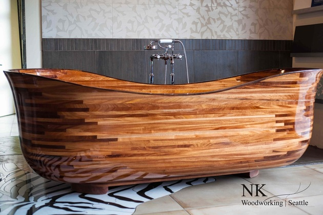 View In Gallery Custom Hardwood Bathtubs Nk Woodworking 1