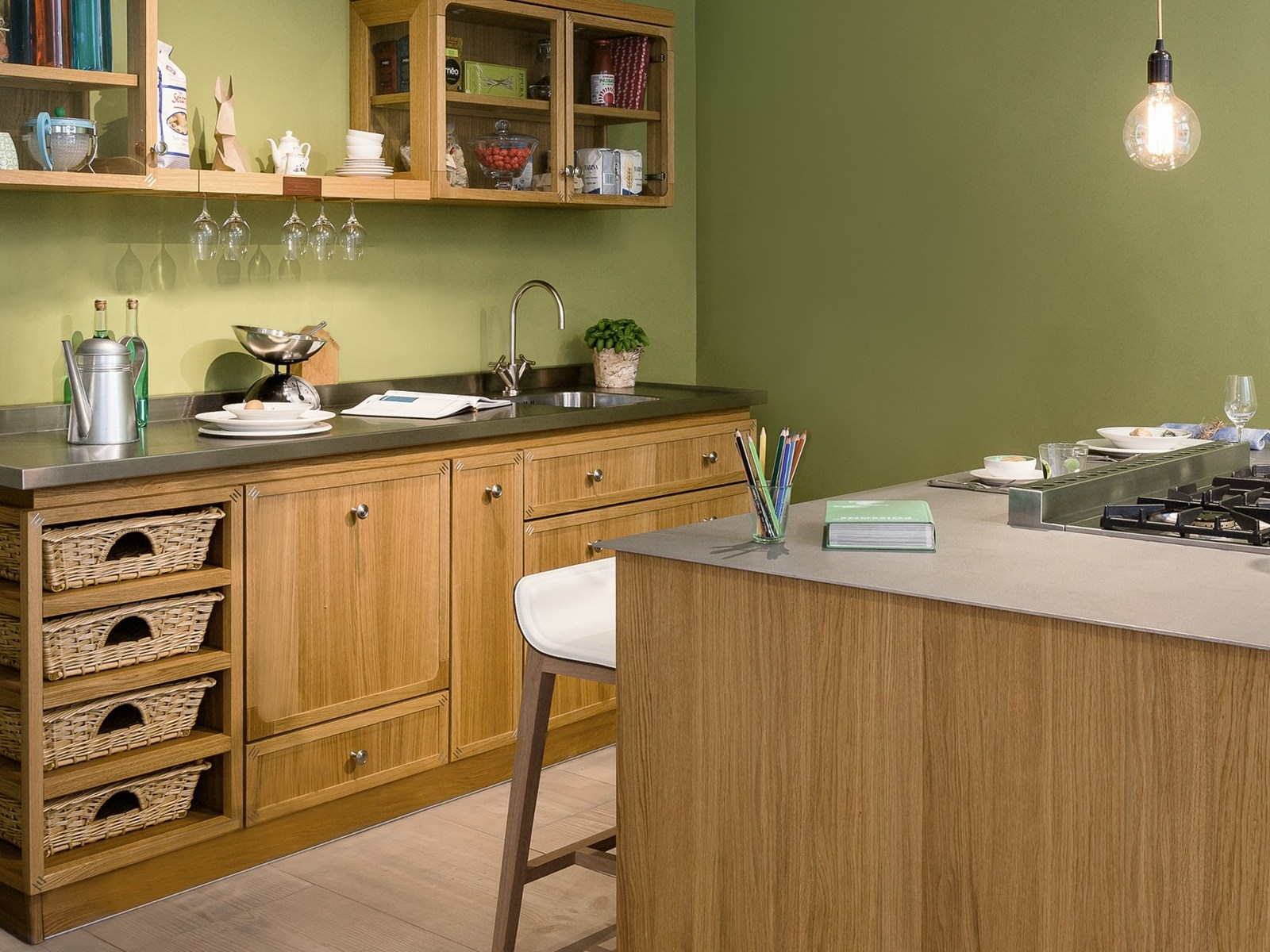 View In Gallery Mini Island Idea For Small Urban Kitchens By