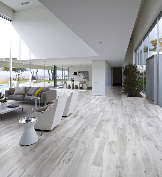 View In Gallery Petrified Wood Look Tile Kauri Awanui White Plank