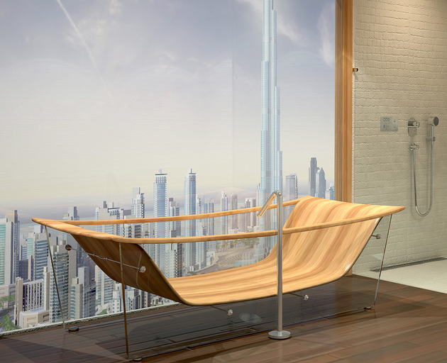 Charmant View In Gallery Wooden Bathtub Bagno Sasso Wave Diamond