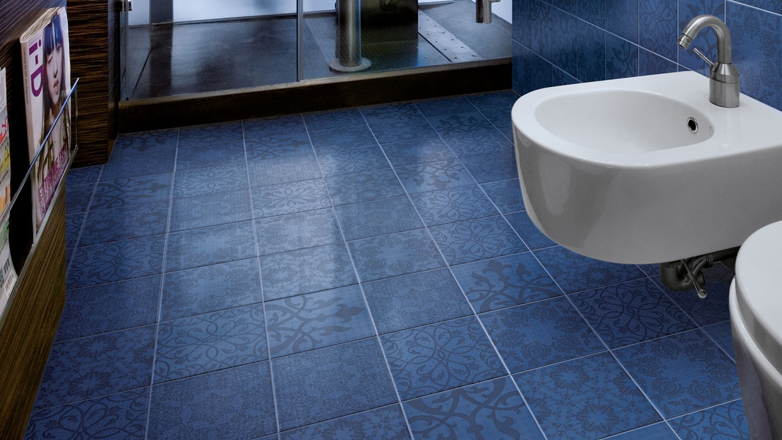 Tile a bathroom floor - View In Gallery Hand Painted Ceramic Floor Tiles Minoo Marcel Wanders