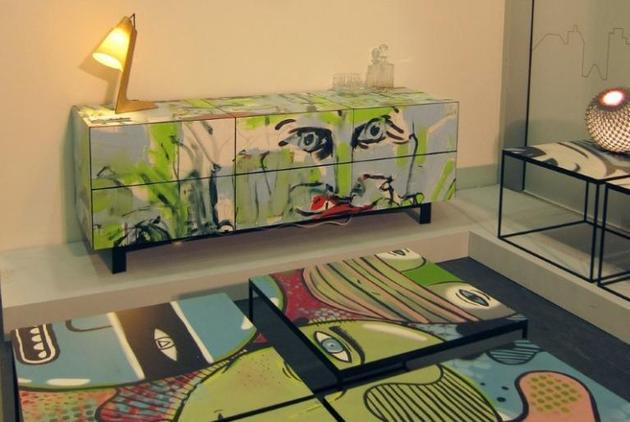 1 graffiti panels street art project furniture thumb 630xauto 57689 Graffiti Furniture Brings Street Art into Your Home