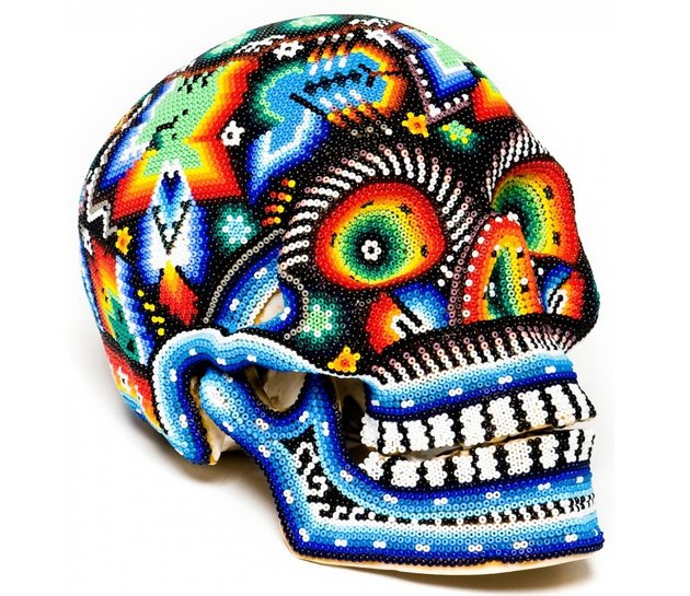 day of the dead decor huichole skull thumb 630xauto 57081 Day of the Dead Decor: Its the New Halloween