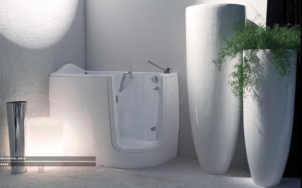 small corner bathtub with shower. View in gallery mini bathtubs shower geny midi jpg Mini Bathtub and Shower Combos for Small Bathrooms