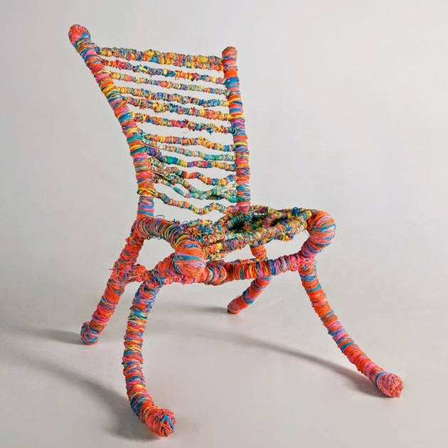 sustainable home decor upcycled furniture rubber band chair thumb 630xauto 57164 Best Upcycled Furniture Ideas