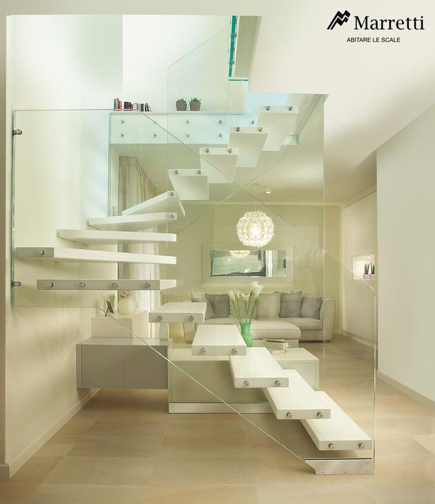 Unique and creative staircase designs for modern homes for Maretti scale