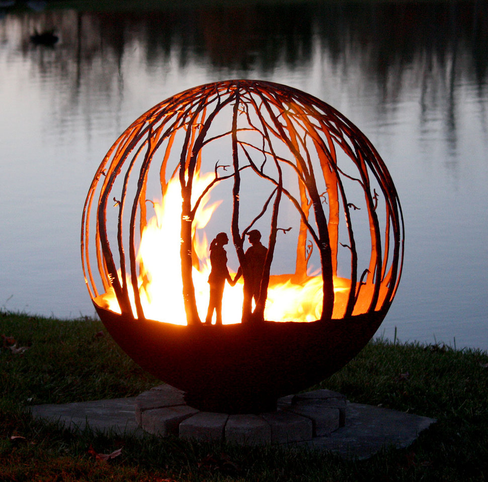 35 Metal Fire Pit Designs and Outdoor Setting Ideas on Fire Pit Design  id=39462