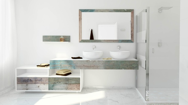 1 bianchini and capponi materia multicolor weathered wood look bathroom collection%20 thumb 630xauto 58986 Weathered Wood Look Bathroom Vanities: Stunningly Beautiful