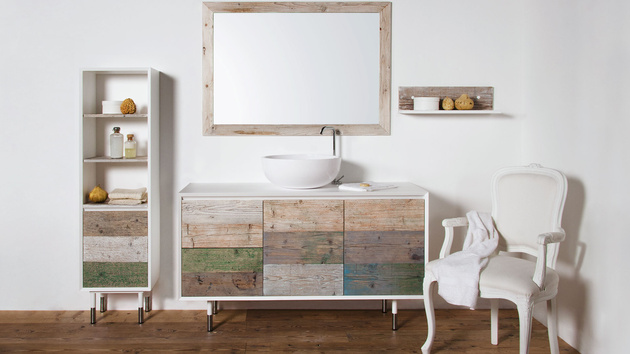 2 bianchini and capponi materia multicolor weathered wood look bathroom collection thumb 630xauto 58988 Weathered Wood Look Bathroom Vanities: Stunningly Beautiful