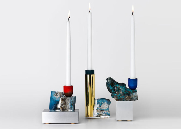 industrial style candlesticks david taylor thumb 630xauto 58063 Mining Slag Candlesticks by David Taylor are Stunning Works of Art