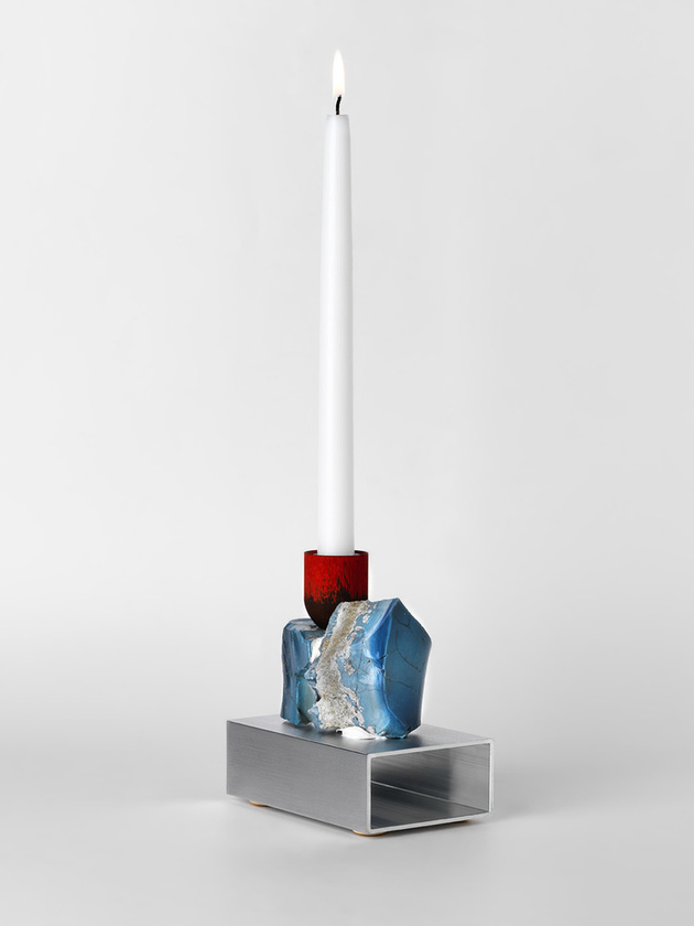 Mining Slag Candlesticks by David Taylor are Stunning Works of Art