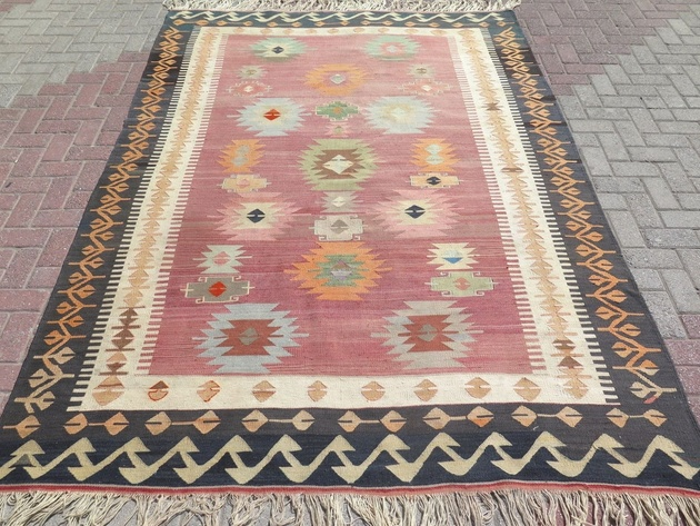 turkish kilim wool area rug black border pastel colors thumb 630xauto 59368 45 Modern Kilim Rugs For the Hottest Trend