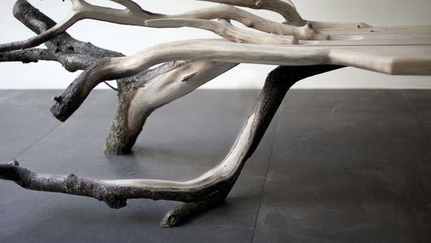 fallen tree bench benjamin graindorge 2 thumb 630xauto 60456 Tree Inspired Furniture: 20 Stunning Designs