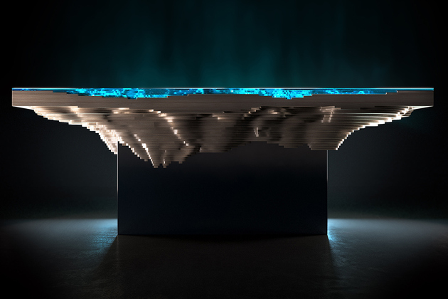 2 abyss dining table duffy london thumb 630xauto 61868 Abyss Dining Table by Duffy London: A Slice of Sea and Land