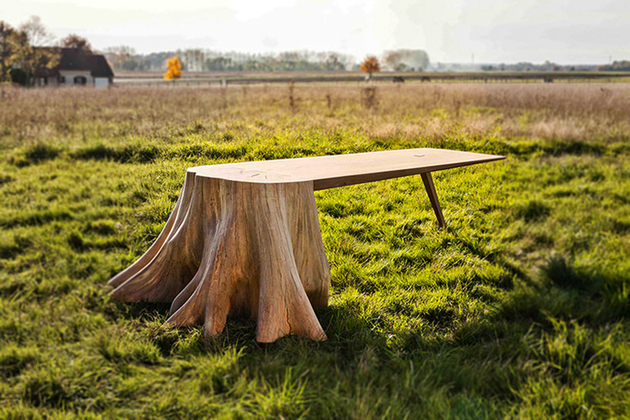 1 racine carree square roots table thomas de lussac thumb 630xauto 62903 It Took 8 Months to Uproot Tree Stump and Form the Square Root Table