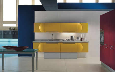 aster cucine trendy space1 Aster Cucine kitchens   innovative Italian kitchen designs