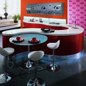 Contemporary Kitchen Design by Aster Cucine – Domina kitchen: Emotions in curved line