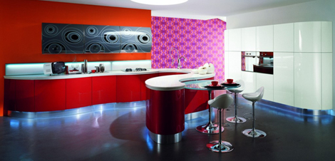 astercucine kitchen domina 2 Contemporary Kitchen Design by Aster Cucine   Domina kitchen: Emotions in curved line