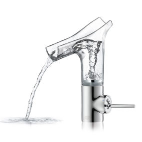 Astonishing Faucet with Clear Glass Spout: Axor Stark V