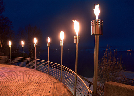 attika delight gas torches Modern Outdoor Gas Fire Collection by Attika