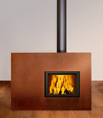 attika fireplace x board Contemporary Wood Fireplace by Attika   X Board Fireplace