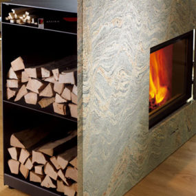 Contemporary Wood Fireplace by Attika – X-Board Fireplace