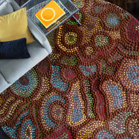 Australian Aboriginal Rugs – 'Dot' art by Malene B