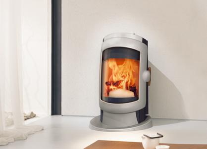 ausvog282 Futuristic Stove design from Austroflam   Vogue wood stove
