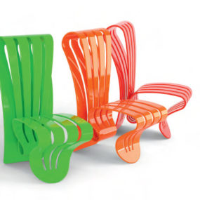 Elegant Creative Outdoor Furniture by Avanzini – Organic Leaf Collection