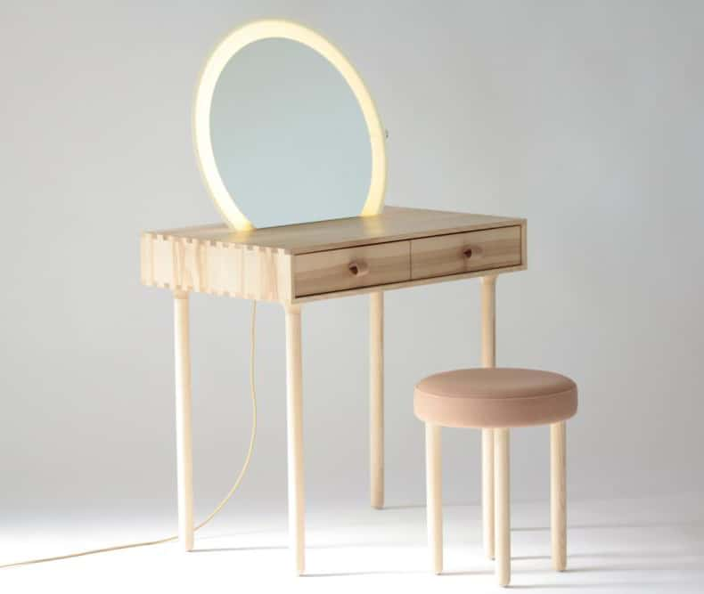 Avignon Dressing Table Set With Lighting By Codolagni