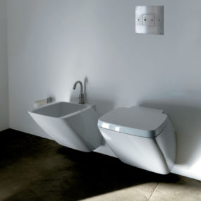 White Ceramic Bathroom Set by Axa – new Atmosfera