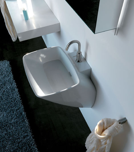 axa white ceramic bathroom set atmosfera 2 White Ceramic Bathroom Set by Axa   new Atmosfera