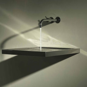 Sink with horizontal drain from Axolute – no more drain pipe!
